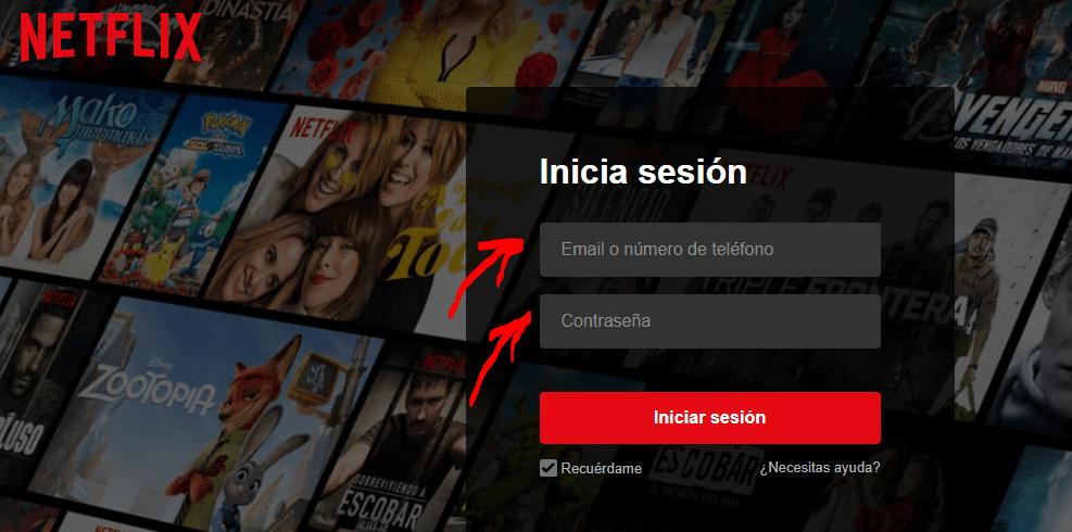 Iniciar sesión Netflix es la imagen donde debes iniciar tu sesión cuando quieras